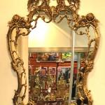 Бронзовое настенное зеркало