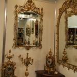 Выставка, предметы интерьера, зеркала